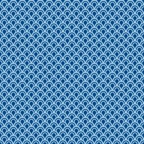 Animal Dream Otter - blue scallope