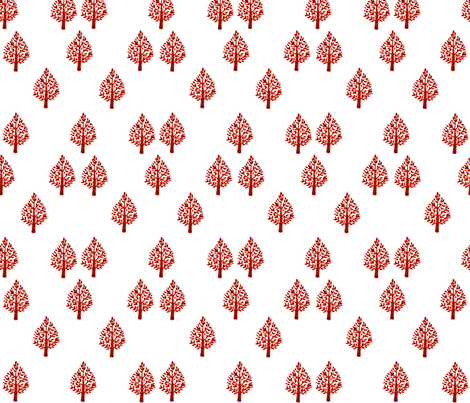 scandi_tree fabric by jennifer_rizzo on Spoonflower - custom fabric