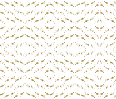 Geometric_Holly_berries fabric by jennifer_rizzo on Spoonflower - custom fabric