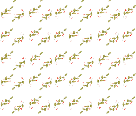 holiday holly_berries fabric by jennifer_rizzo on Spoonflower - custom fabric