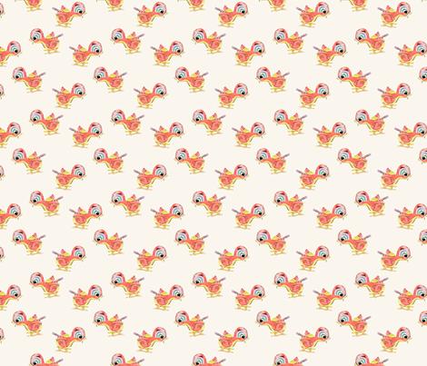 Tin Bird fabric by labeletterose on Spoonflower - custom fabric