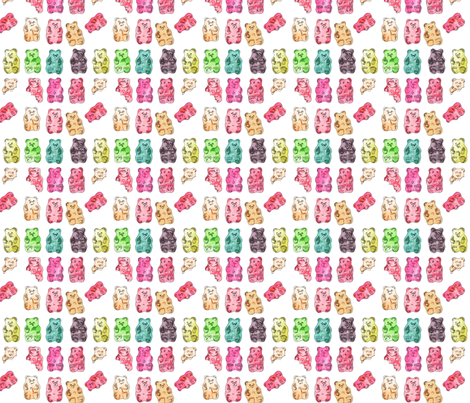 Gummy Bears fabric by labeletterose on Spoonflower - custom fabric