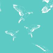 Birds in Paris - Blue
