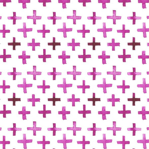 Tight Watercolor Cross Pattern - Magenta