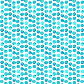 Deep Teal Watercolor Dots