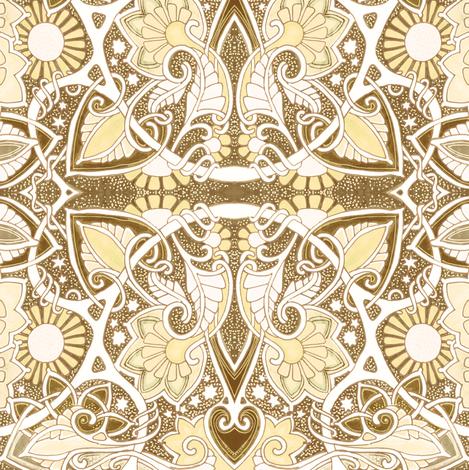 The Sunshine Daisy Conundrum  fabric by edsel2084 on Spoonflower - custom fabric