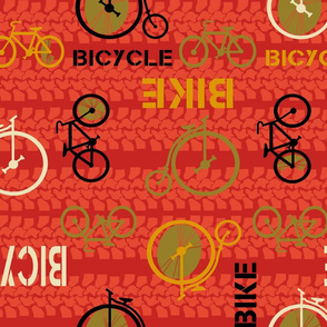 bicycle or bike? vintage or modern by Diane Gilbert