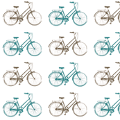 Bronze & Teal Antique Bikes