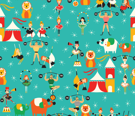 The Strong Man fabric by oliveandruby on Spoonflower - custom fabric