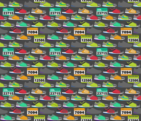 Running Shoes & Race Bibs fabric by run_quiltgirl_run on Spoonflower - custom fabric