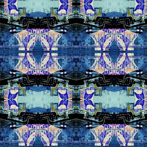 """Denim Blue Abstract"""