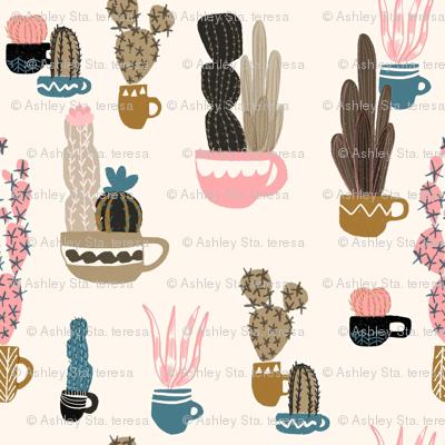 Cacti In Mugs