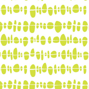 Abstract Shapes in a Line - Lime Green Circles