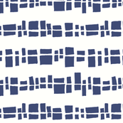 Graphic Shapes in a Line - Navy Squares