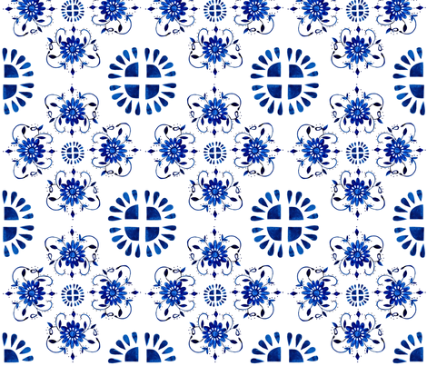 Floral medallion fabric by jennifer_rizzo on Spoonflower - custom fabric
