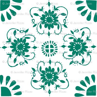 Floral_medaliions_dark_aqua-green