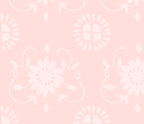 floral_medallion_pink fabric by jennifer_rizzo on Spoonflower - custom fabric