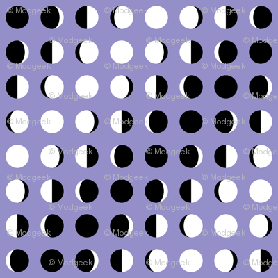 Graphic Moon Phases Lavender