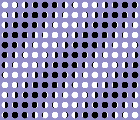 Graphic Moon Phases Lavender fabric by modgeek on Spoonflower - custom fabric