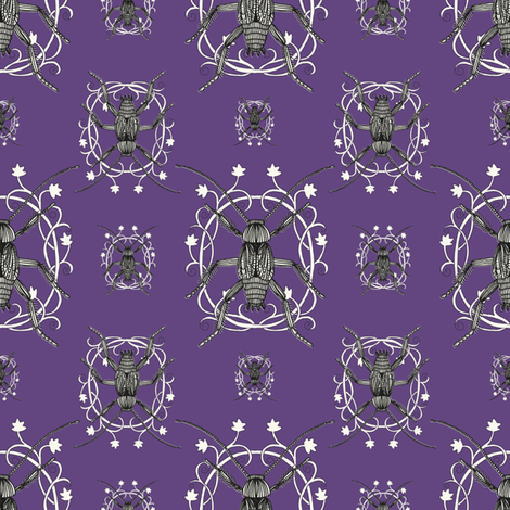 Sumptuous Cockroaches fabric by seesawboomerang on Spoonflower - custom fabric