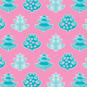 PINE in pinkturquoise