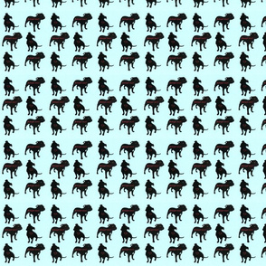 Staffie rescue adoption fabric_blue