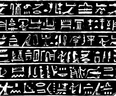 Hieroglyphics on Black // Small