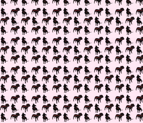 Staffie rescue adoption fabric_pink fabric by cleverlittlestaffie on Spoonflower - custom fabric