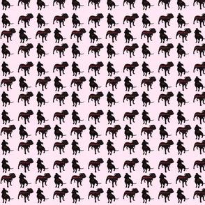 Staffie rescue adoption fabric_pink
