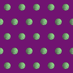 Green Gravity Moon on  Purple