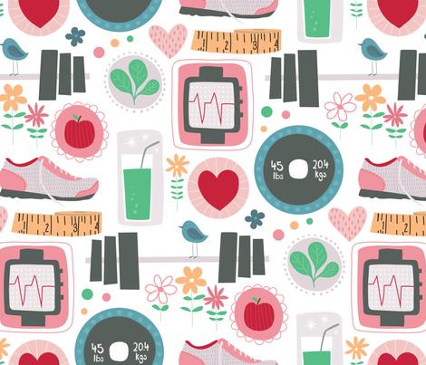 Fabulous Fit Fun fabric by lisa_kubenez on Spoonflower - custom fabric