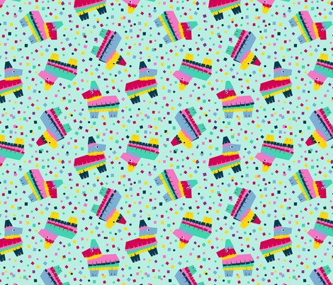 Piñata Party! fabric by nadiahassan on Spoonflower - custom fabric