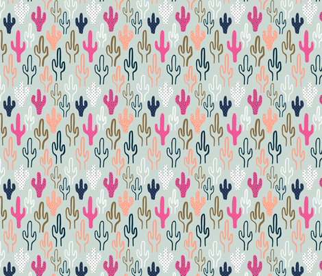 Saguaros fabric by nadiahassan on Spoonflower - custom fabric