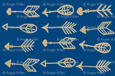 navy golden arrows