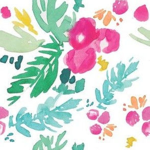 Winter Floral in Fuchsia Berry