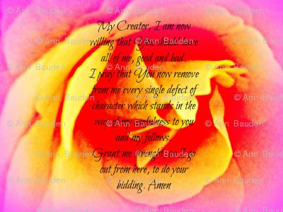 Seventh Step Prayer