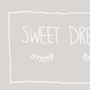 Sweet Dreams Pillowcase pair  silver grey