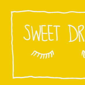 Sweet Dreams Pillowcase pair yellow