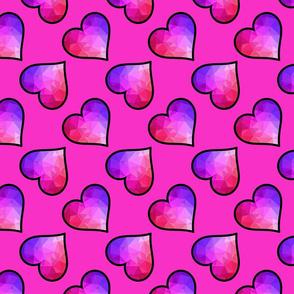 Geo Hearts Pink