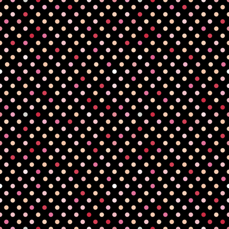 Portraits_pinks_4_multi_spots-01 fabric by seesawboomerang on Spoonflower - custom fabric