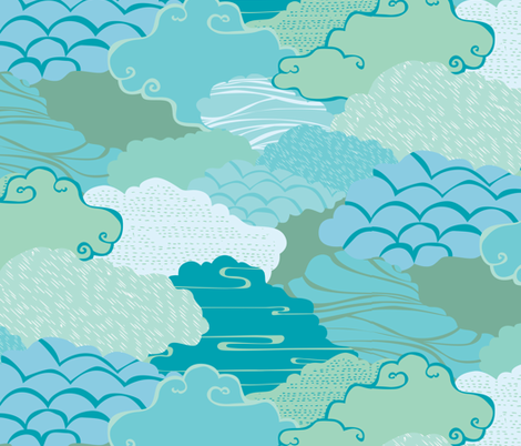 Mindful Breathing fabric by ceciliamok on Spoonflower - custom fabric