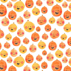 Watercolor Silly Pumpkins