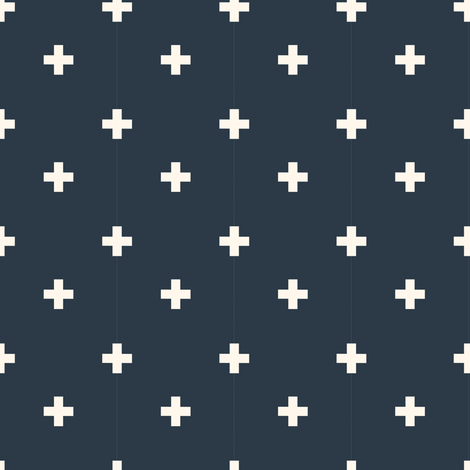 Aid Station- Moonlight fabric by b__woolf on Spoonflower - custom fabric