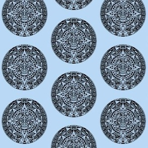Mayan Calendar on Light Blue // Small