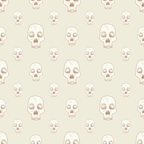 Classic Skull Fill fabric by seesawboomerang on Spoonflower - custom fabric
