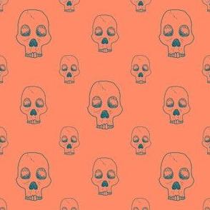 Neon Skull Outline