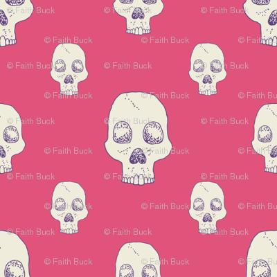 Lovely Pink Skull Fill