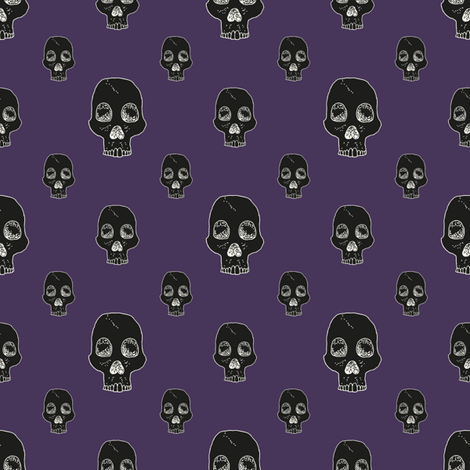 Sumptuous Skull Fill fabric by seesawboomerang on Spoonflower - custom fabric