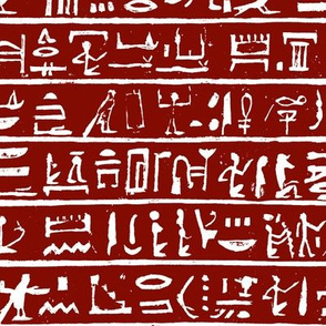 Hieroglyphics on Maroon // Small