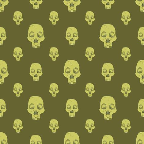 Toxic Skull Fill fabric by seesawboomerang on Spoonflower - custom fabric